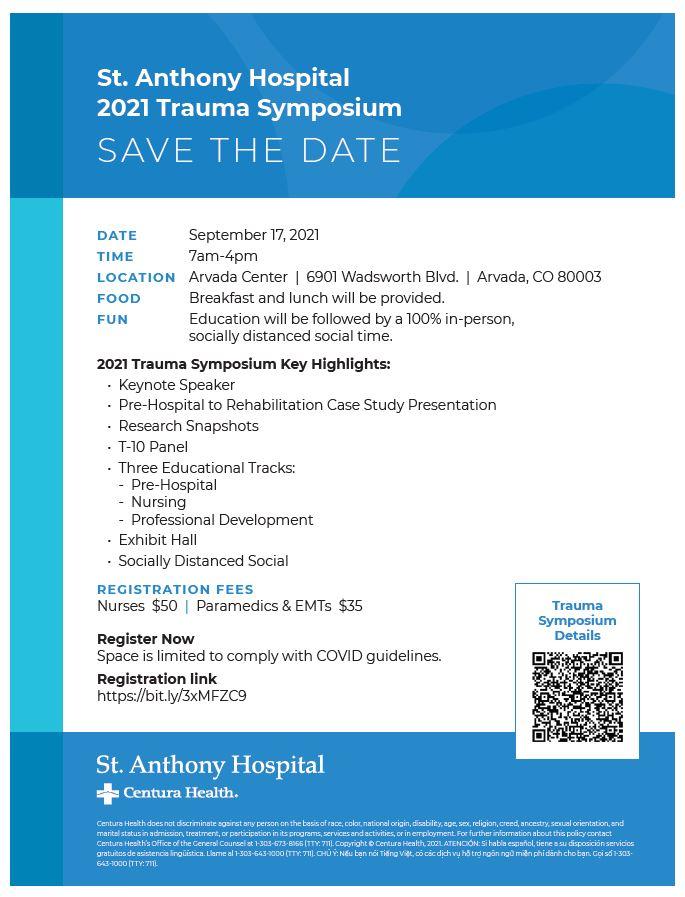 St. Anthony 2021 Trauma Symposium